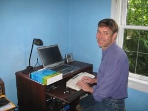 Employ-Ability Participant Colin at his desk