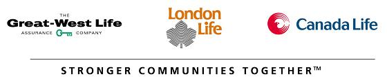 Great West Life, London Life, Canada Life Logo, Stronger Communities Working Together