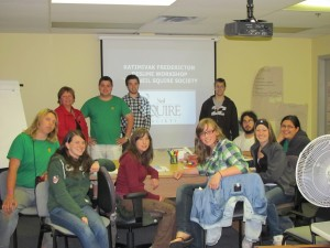 Katimavik Youth in the classroom in Fredericton