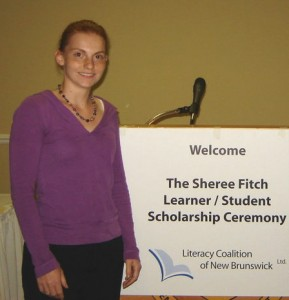 Tara Brice at the Sheree Fitch Award Ceremony