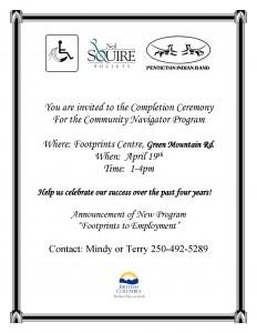 Community Navigator Program Completion Ceremony Poster