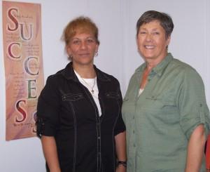 Lisa and Employ-Ability Facilitator, Polly Beach
