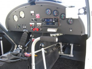 hand controls in an Ultralight airplane