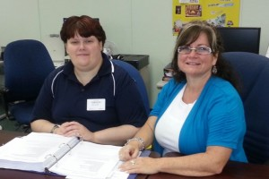 Melanie with Prairie Manager, Nikki