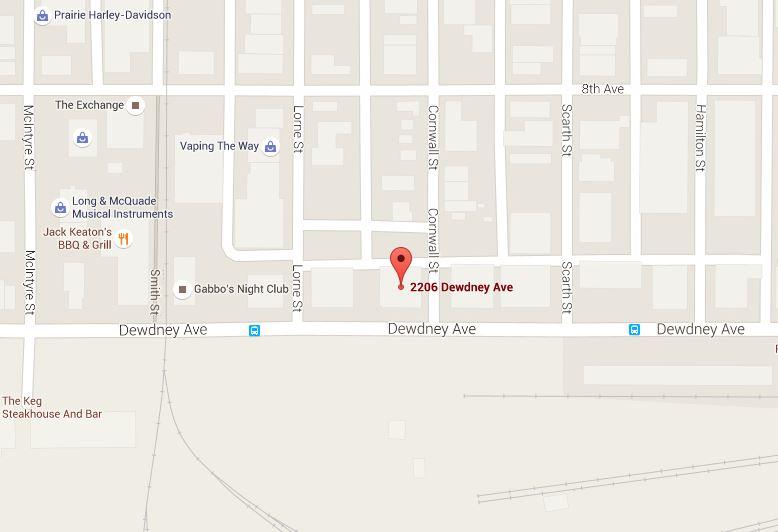 2206 Dewdney Avenue Location Map