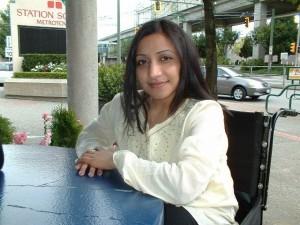 a participant smiling