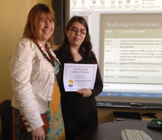 Employ-Ability participant, Samantha, and Program Facilitator, Pat Price