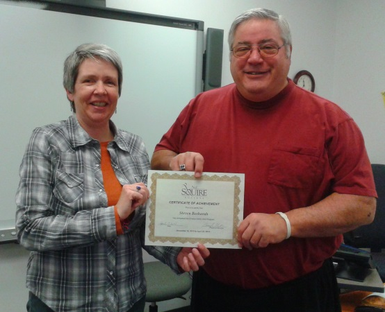 Stephen and Regional Manager, Cheryl Colmer