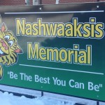 Sign for Nashwaaksis Memorial School