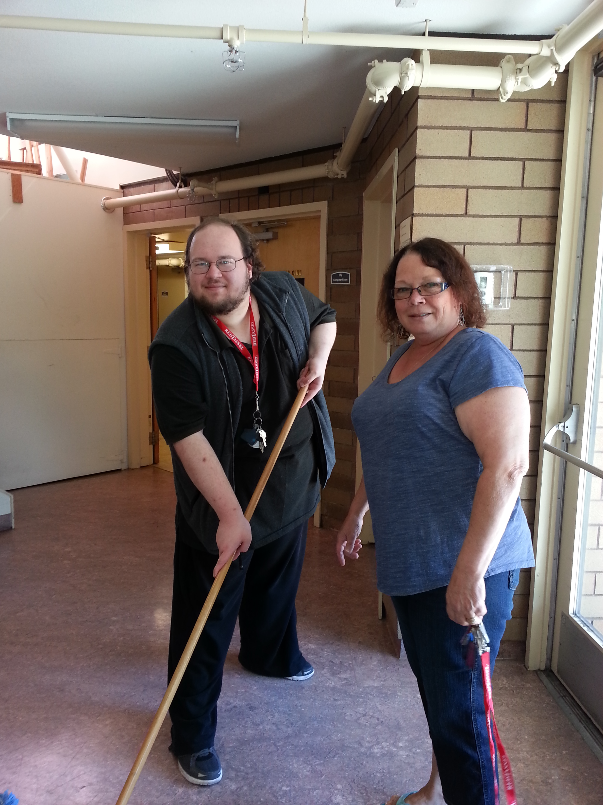 Working Together client Kyle with Tina Whiles, a Penticton and District Society for Community Living vocational counsellor