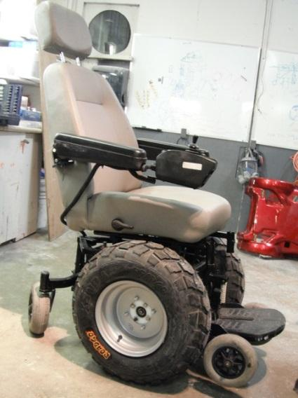 Kevin's wheelchair