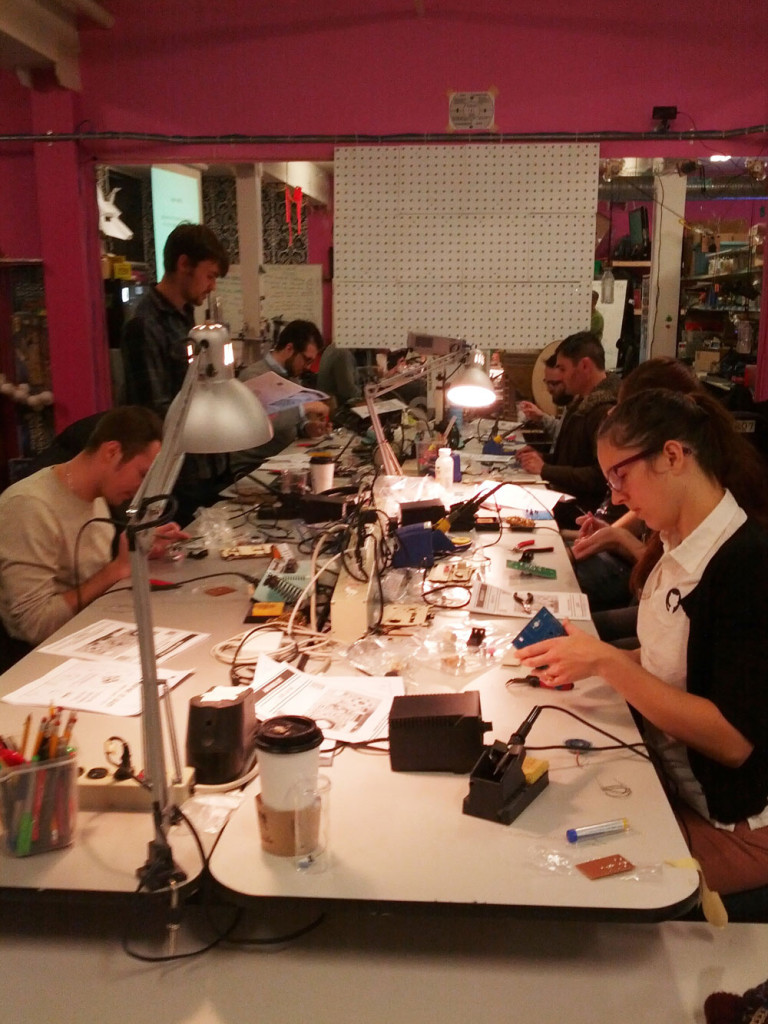 """Hackers"" hard at work inside the Vancouver Hack Space"