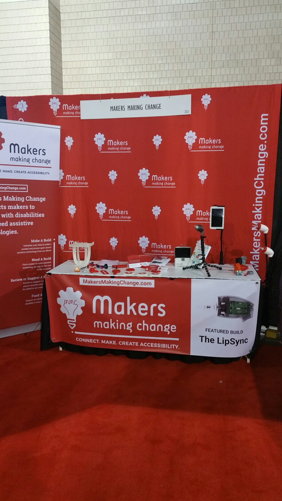 Our booth at the AOTA conference featured a homemade 3D printer