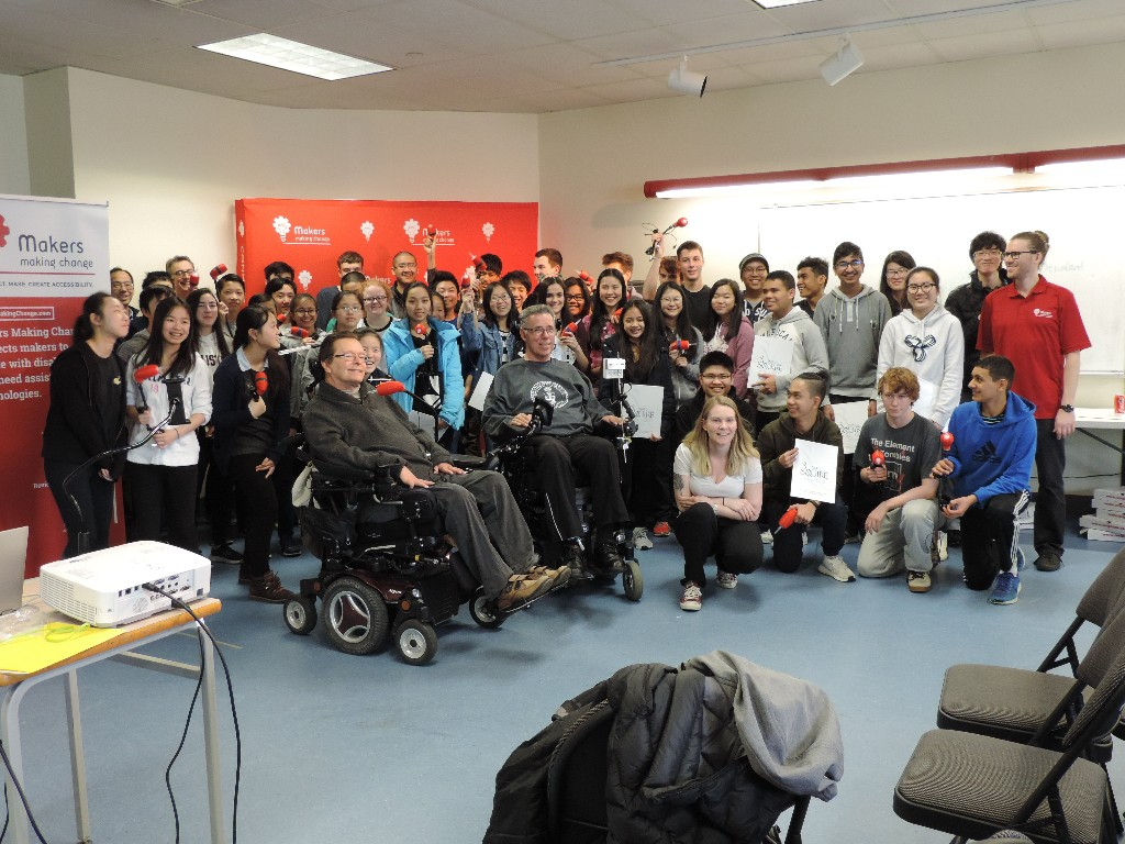 A group photo from the Burnaby School District Make-a-thon held on April 25th