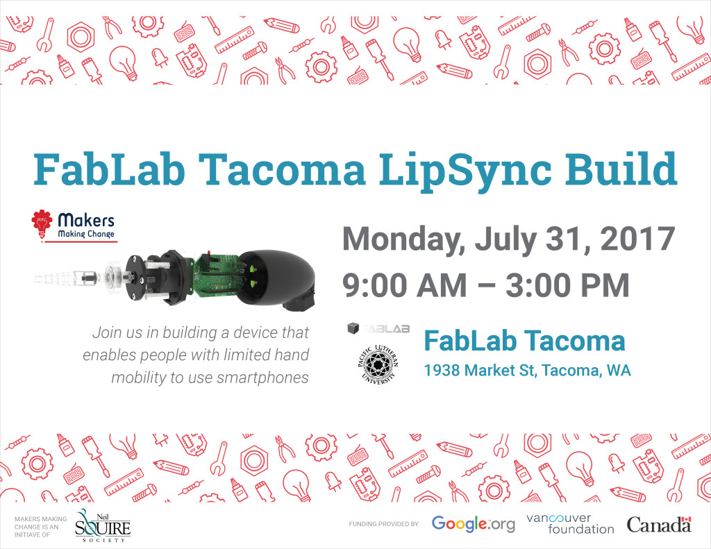 a poster for the Tacoma Buildathon