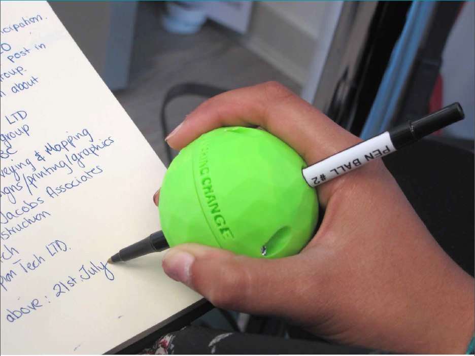writing aid ball