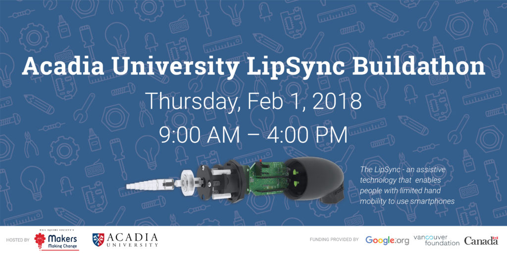 Acadia LipSync Buildathon Poster