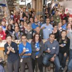 Bell employees and Makers with the completed LipSyncs