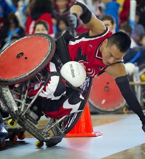Ian, Distance Computer Comfort participant (photo via BC Wheelchair Sports Association)