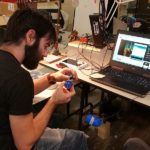 Luke working on a LipSync