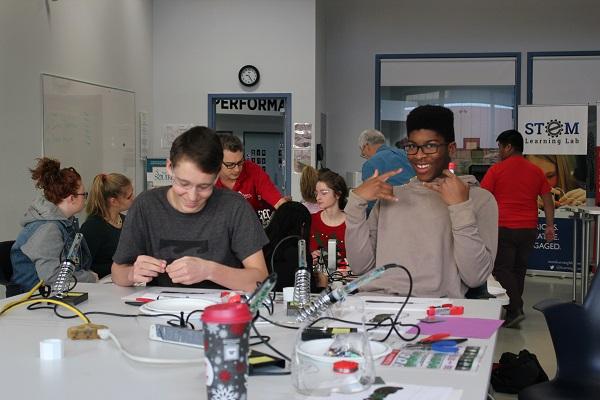 Students building LipSyncs