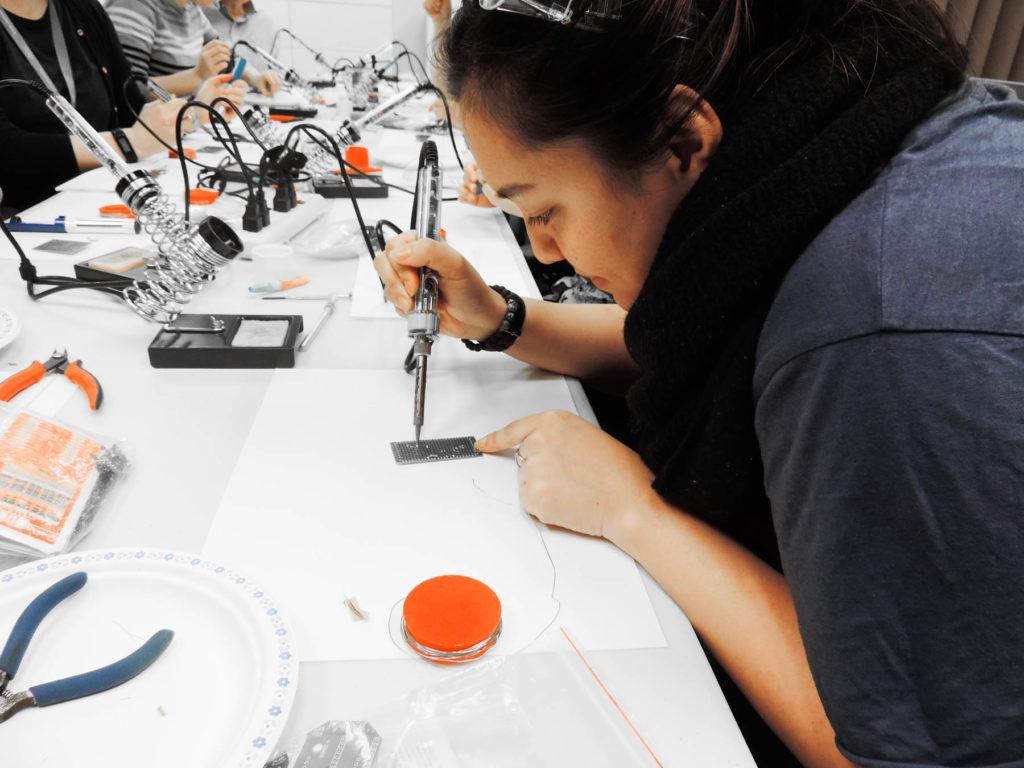 Ugen soldering a LipSync