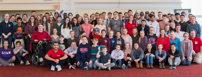 Group photo of the attendees of the Acadia University LipSync Buildathon