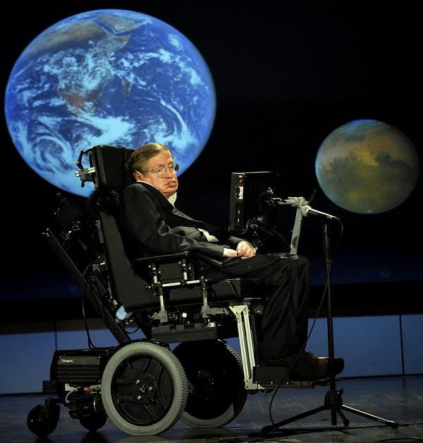 Stephen Hawking at NASA in 2008
