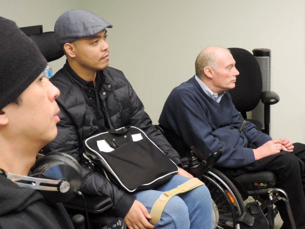 (Left to right) Two Working Together clients and Executove Director, Gary Birch, looking on