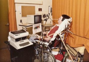 Neil Squire using a computer