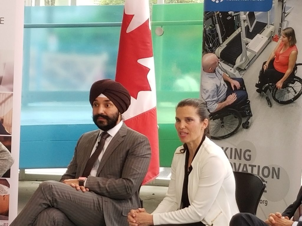 the Honourable Navdeep Bains, Canada's Minister of Innovation, Science and Economic Development; the Honourable Kirsty Duncan, Minister of Science and Minister of Sport and Persons with Disabilities