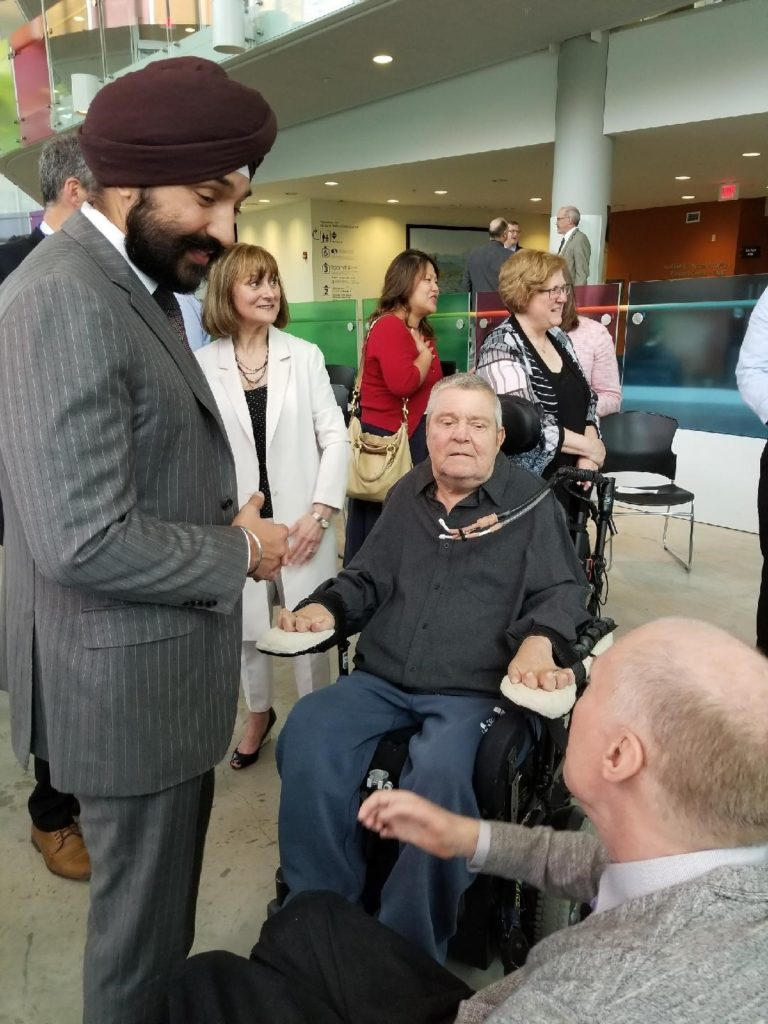 Minister Bains and Don Danbrook