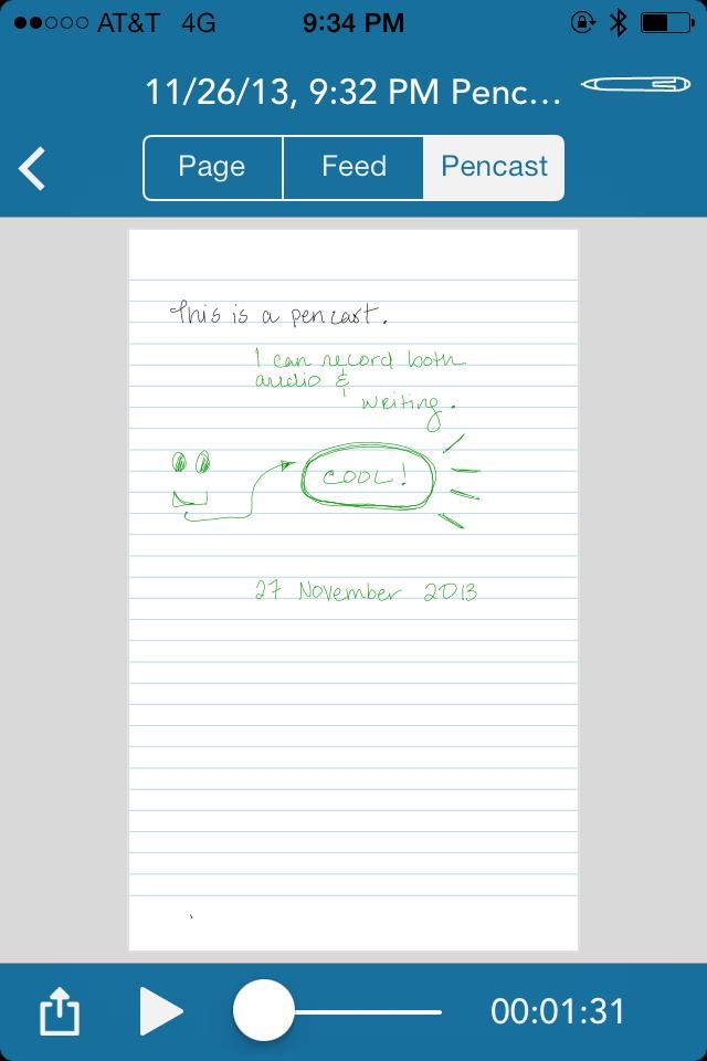 Screenshot of Live Scribe PDF