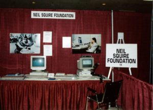 an early Neil Squire Foundation booth at a trade show