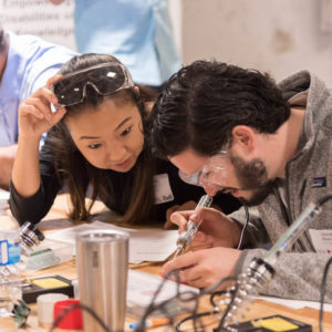 volunteer makers at a buildathon