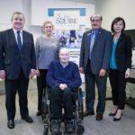 Left to Right: The Honourable Shane Simpson; Janet Rutledge, MLA Burnaby North; Gary Birch, Executive Director of Neil Squire Society; Raj Chouhan, MLA Burnaby-Edmonds; Katrina Chen, MLA Burnaby-Lougheed.