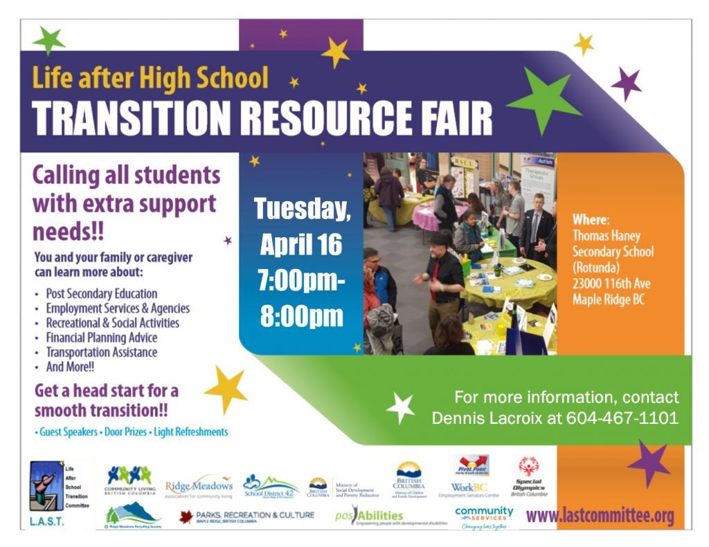 Transition Resource Fair poster