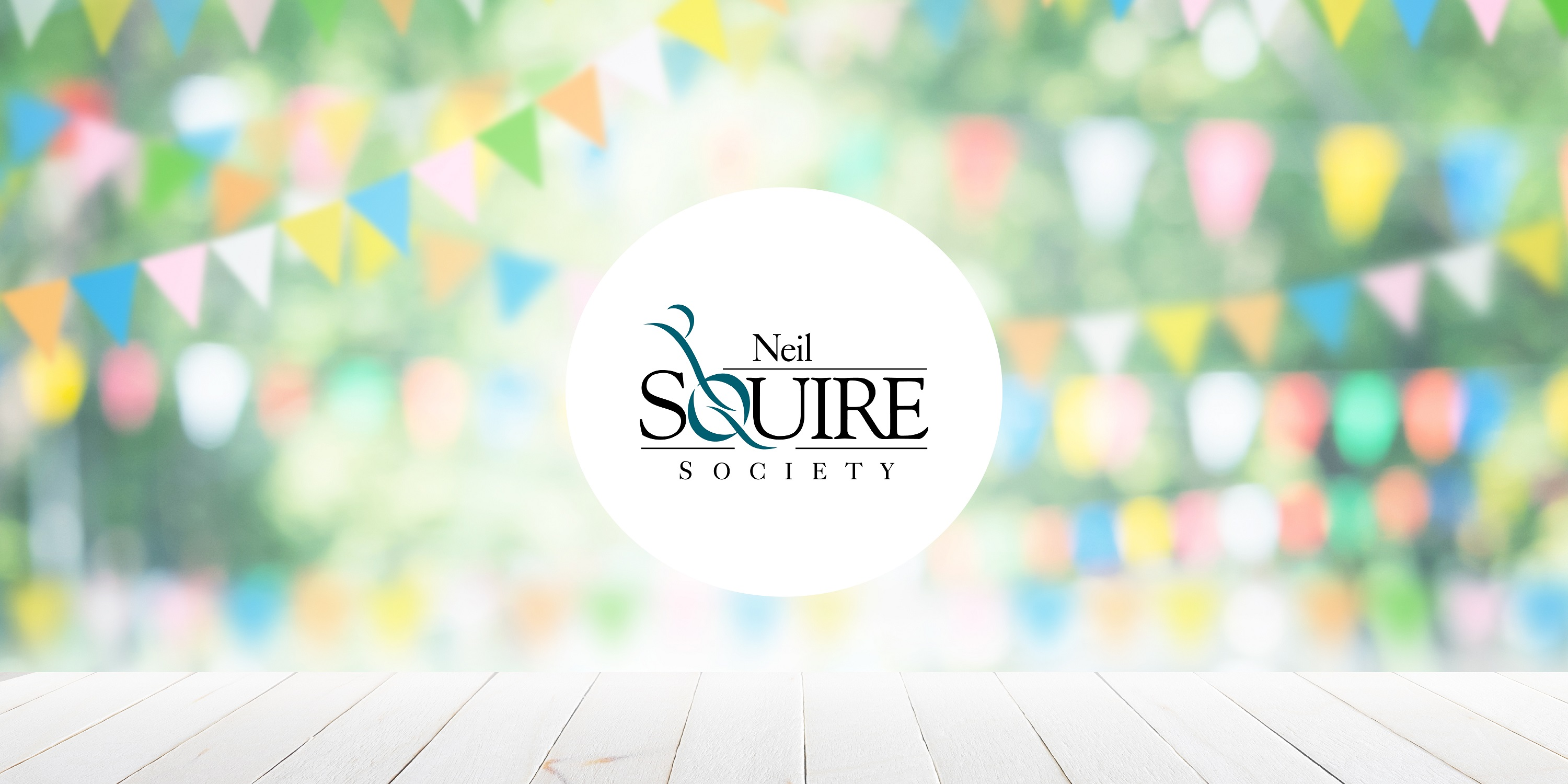 Neil Squire Society logo with party flags