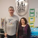 Joel (left) with Erica Young, Executive Director of Opal Family Services