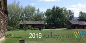 2019 Valleywide Expo banner with photo of an open green space