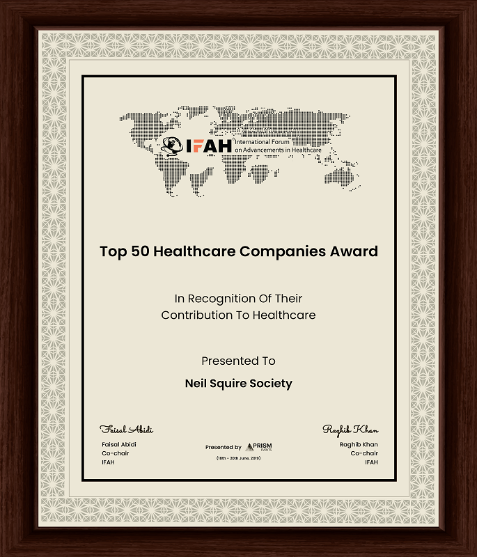 IFAH Top 50 Healthcare Companies Award presented to Neil Squire Society