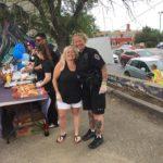 Prairie Regional Manager, Nikki Langdon, with member of Regina Police Service Community Engagement Unit
