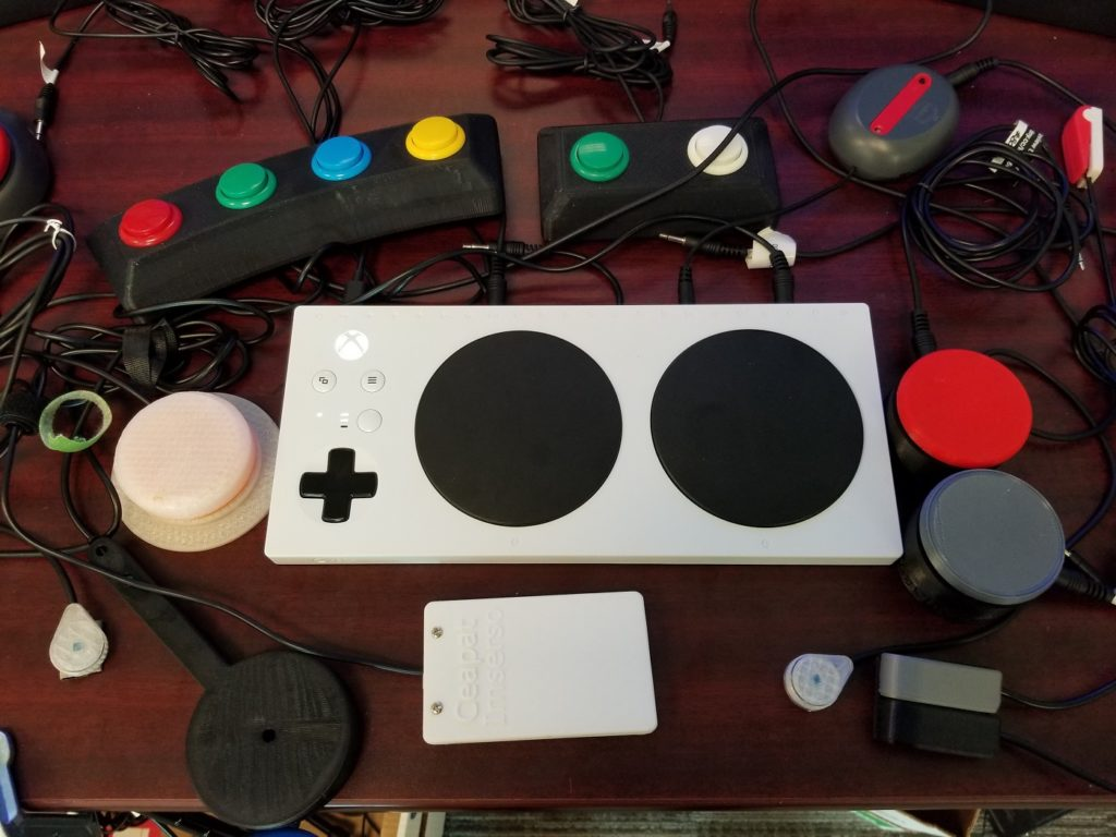 accessible gaming using the Microsoft Adaptive Controller and open source switches