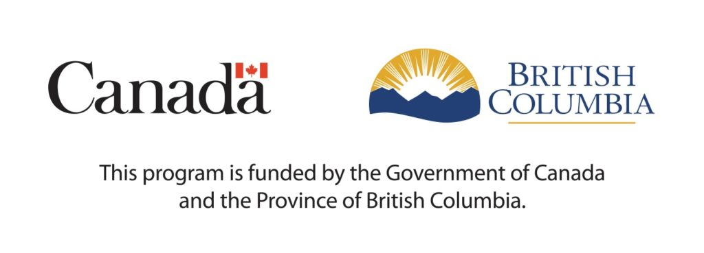 Government of Canada and BC logos, This program is funded by the Government of Canada and the Province of British Columbia