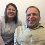 Ruby Ng, Executive Director of the Disability Foundation, with Jordan, Working Together participant