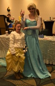 An attendee with Elsa