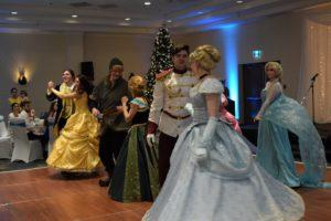 Princesses and Princes dancing
