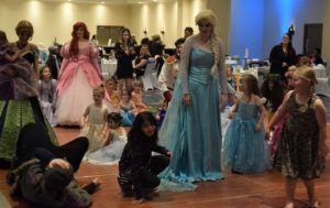 Children mingling with Princesses