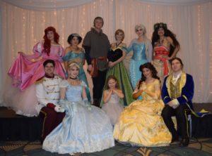 Group shot of princesses and princes