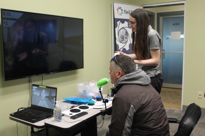 Assistive gaming setup demo
